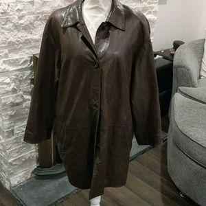 Danier vintage brown leather jacket